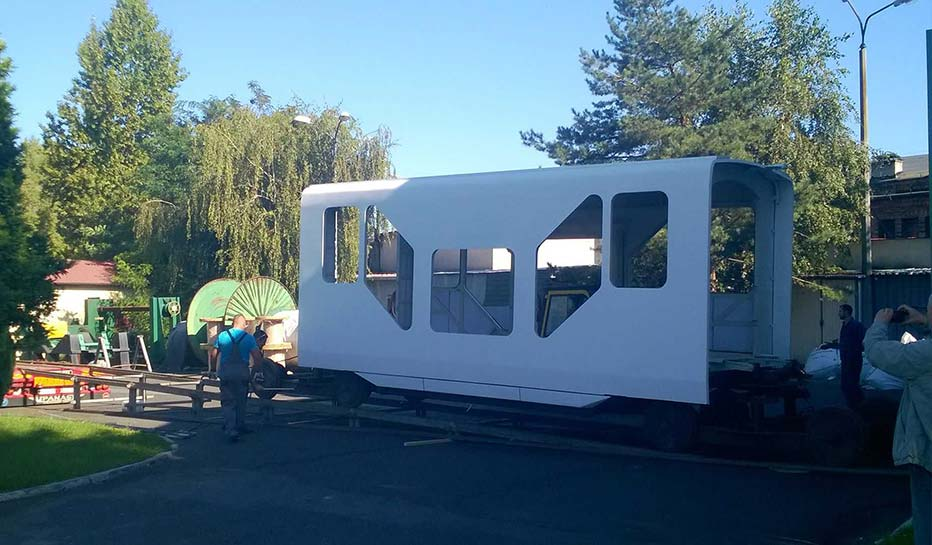 Człon środkowy konstrukcji tramwaju